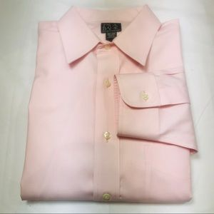 Jos A Bank Traveler's Tailored Fit Pink 16.5/35